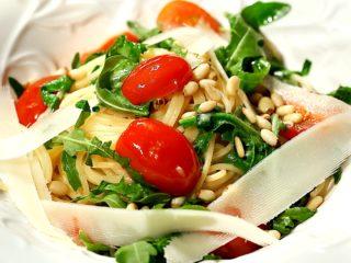 Arugula, Pine Nuts and Parmesan Spaghetti -