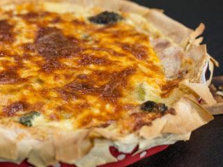 Ham, Leek, and Broccoli Quiche -