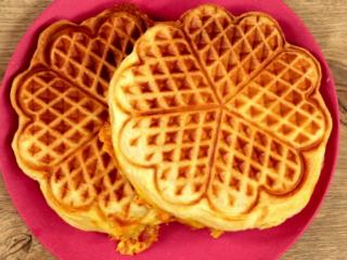 Bacon and Mozzarella Waffles -