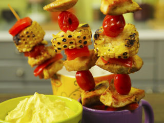 Chicken and Sweet Corn Skewers -