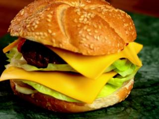 Double Cheddar Bacon Burger -