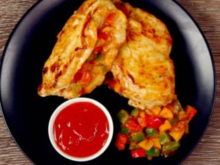 Bell Pepper Stuffed Chicken Breast -
