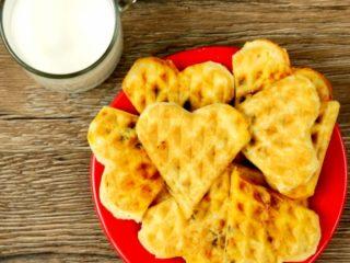 Waffles with Mushrooms -
