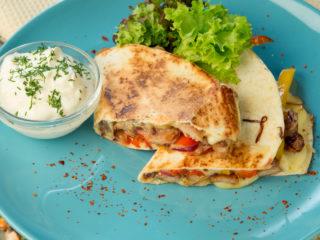 Pork and Veggie Quesadilla -