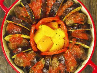 Meatball and Eggplant Casserole -