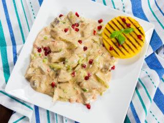 Pork and Mushroom White Sauce Stew -