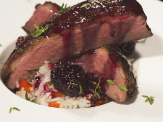 Duck Breast with Blackberry Sauce -
