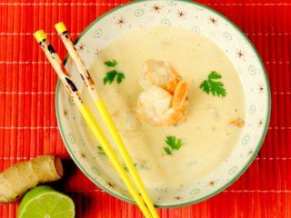 Shrimp and Coconut Milk Soup -