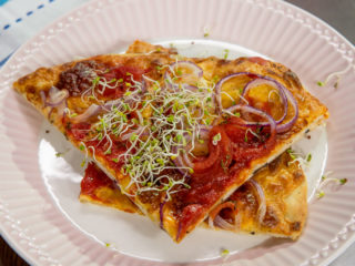 Olive and Cheese Flatbread -
