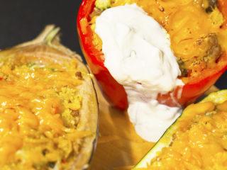 Turkey and Couscous Stuffed Veggies -
