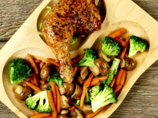 Soy Sauce Chicken Thigh with Stir-Fried Veggies -