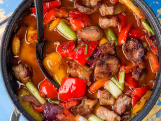 Wine-Simmered Pork and Veggie Stew -