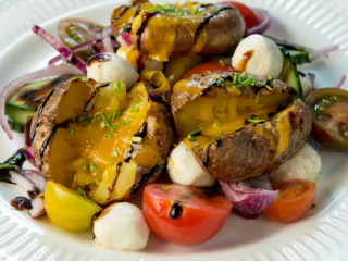 Roasted Potato, Mozzarella and Veggie Salad -
