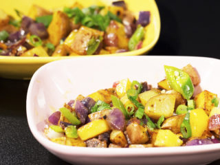Purple and White Potato Hash -
