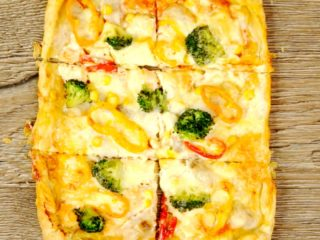 Fish Puff Pastry Pizza -