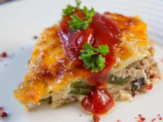 Mushroom and Mincemeat Casserole -