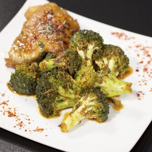 Spicy Roasted Broccoli -