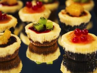 Jam-Topped Mini Cheesecakes -
