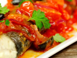 Trout with Cherry Tomato Sauce -
