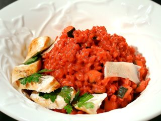 Chicken Breast with Beetroot Red Rice -