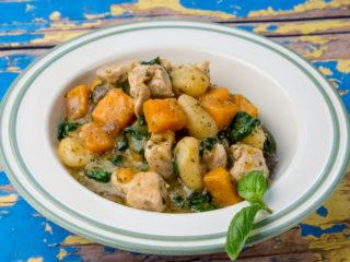 Chicken with Gnocchi and Pesto Sauce -