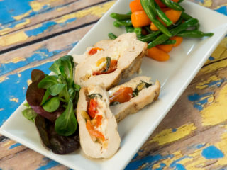 Goat Cheese and Cherry Tomato Filled Chicken -