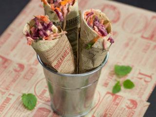 Coleslaw and Feta Wrap -