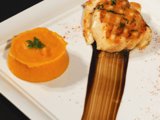 Grilled Chicken with Carrot Mash -
