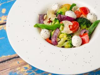 Veggie, Pasta and Mozzarella Salad -
