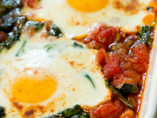 Tomato, Spinach and Egg Casserole -