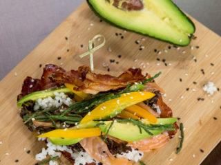 Sushi-Style Bacon Weave -