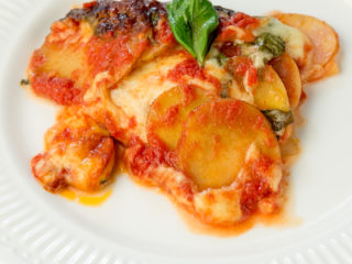Potato and Baby Spinach Casserole -