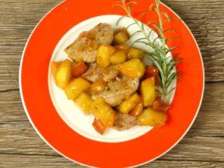 Sweet Apple Pork Steak -