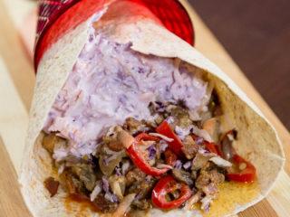 Chicken and Mushroom Tortilla Wrap -