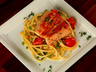Salmon Spaghetti -
