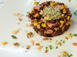 Crunchy Wild Rice with Bacon and Corn -