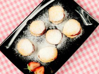 Strawberry Jam Cookies -