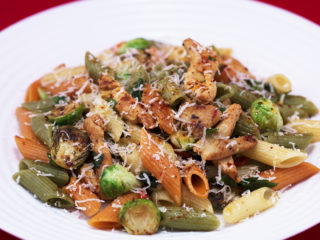 Chicken and Brussels Sprouts Tricolor Penne -