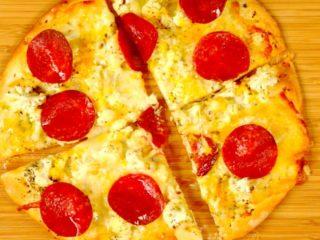 Cauliflower and Salami Pizza -