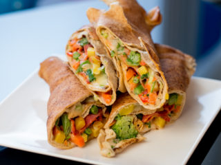 Baked Chorizo and Veggie Wraps -