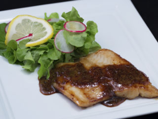 Mustard and Honey Pan-Fried Cod -