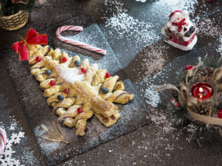 Puff Pastry and Nutella Christmas Tree -