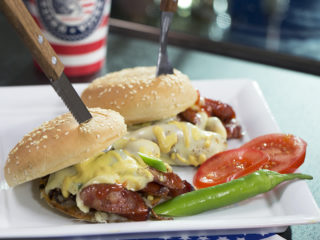 Sausage Cheeseburger -