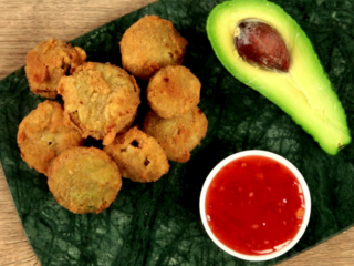 Avocado and Onion Fried Snack -