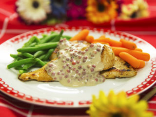 Chicken Breast with Red Pepper Sauce -