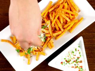 Parmesan Sweet Fries -