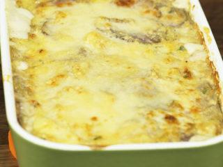 Purple and White Potato Cheesy Casserole -