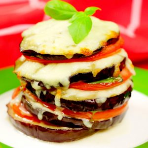 Eggplant Tower Sandwich -
