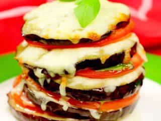 Eggplant Tower Sandwich -