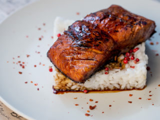 Soy Sauce and Cognac Marinated Salmon -